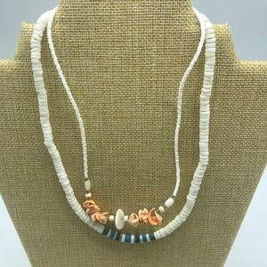 Jewelry - Lot of 2 Shell Necklaces Vintage Puka shell